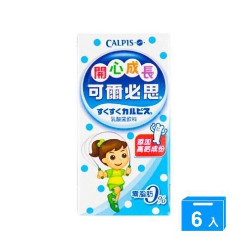 開心成長-可爾必思乳酸菌飲料160MLx6鋁箔包/ 組【愛買】