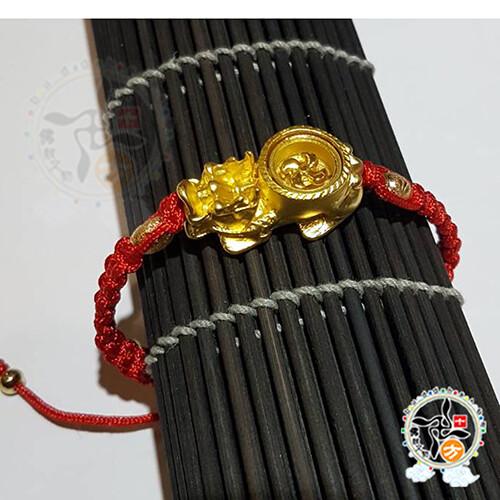 招財龍龜轉旺運手鍊 +平安加持小佛卡   十方佛教文物