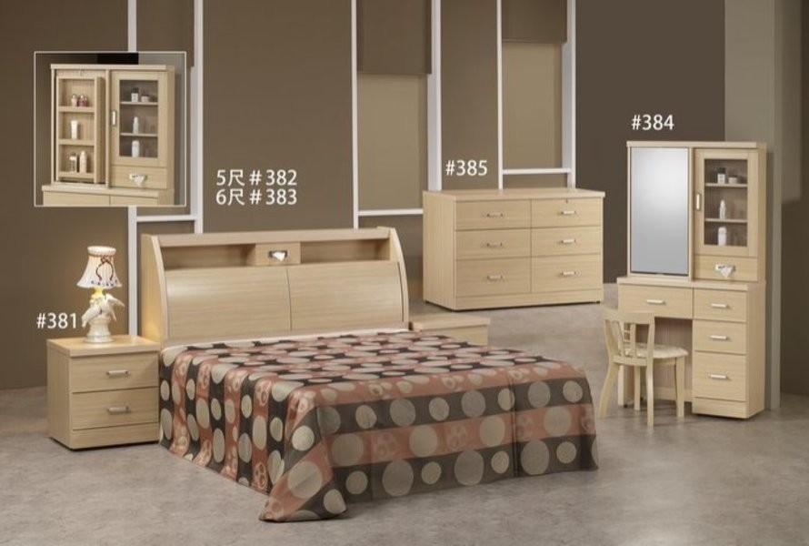 新精品gh-382 白橡圓滿5尺床頭 單賣床頭箱(不含其他商品) 台中以北搭配車趟免運費