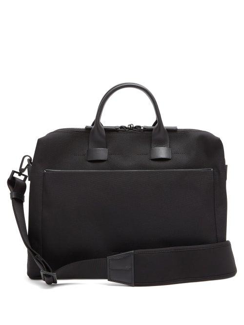 Troubadour - Adventure Pathfinder Slim Leather-trim Briefcase - Mens - Black