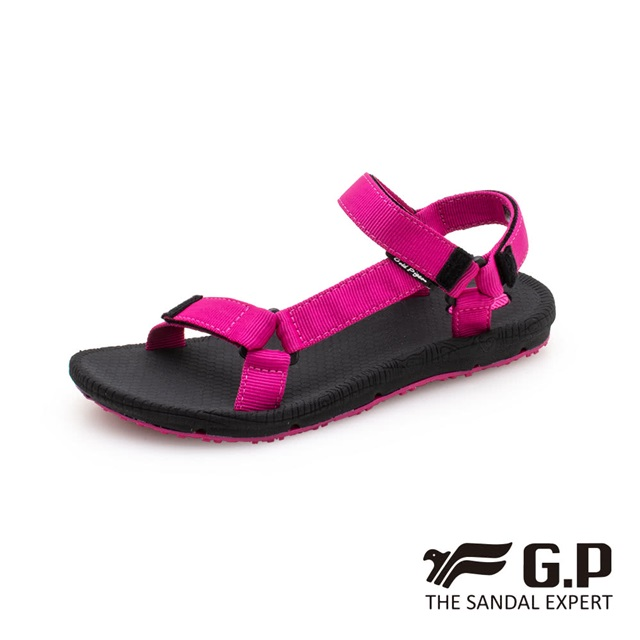 G.P (女) 簡約織帶涼鞋- 桃(另有黑)