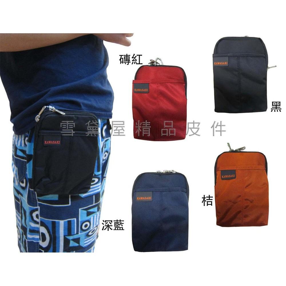 ~雪黛屋~kawasaki 腰包5.5吋手機超無敵耐用外掛腰包pda袋台灣製造品質保證高單數防水尼龍