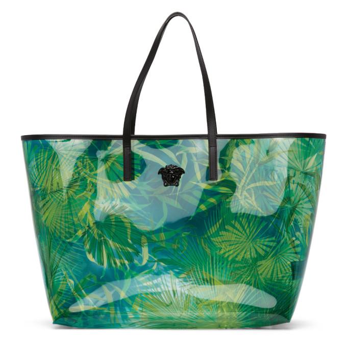 Versace 绿色 Jungle PVC 托特包