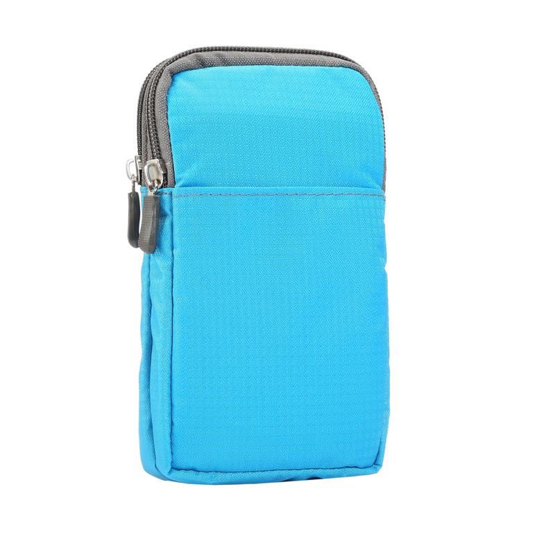 6.3吋 通用直式腰包尼龍纖維多功能腰包手機袋收納袋