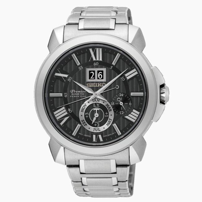 SEIKO 精工 Premier 7D56-0AE0D 人動電能自動追時萬年曆腕錶 (SNP141J1)