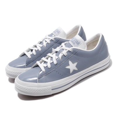 Converse 休閒鞋 One Star HanByeol 男女鞋 經典款 一顆星 漆皮 情侶穿搭 簡約 灰 白 168133C