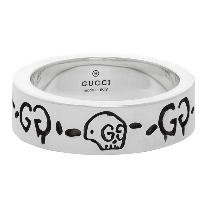 Gucci 银色 G Ghost 戒指