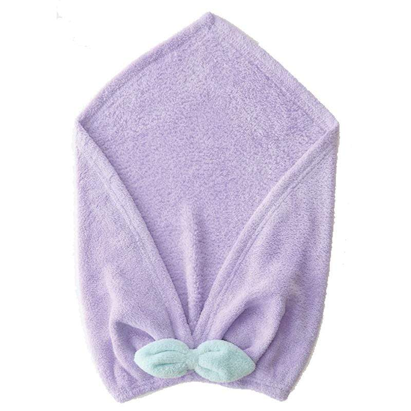 馬卡龍系列超細纖維擦頭包巾 紫色