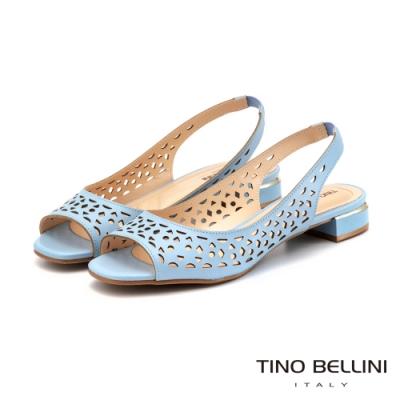 Tino Bellini 巴西進口幾何鏤空後拉帶魚口涼鞋