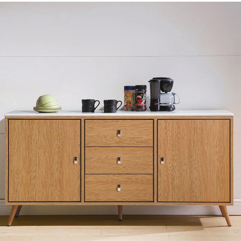 【RA822-4】無印風5.3尺碗盤櫃下座(含石面)