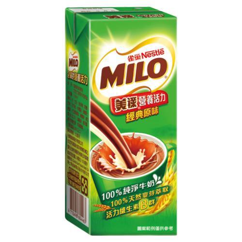 美祿巧克力牛奶麥芽飲品198ml*6入【愛買】