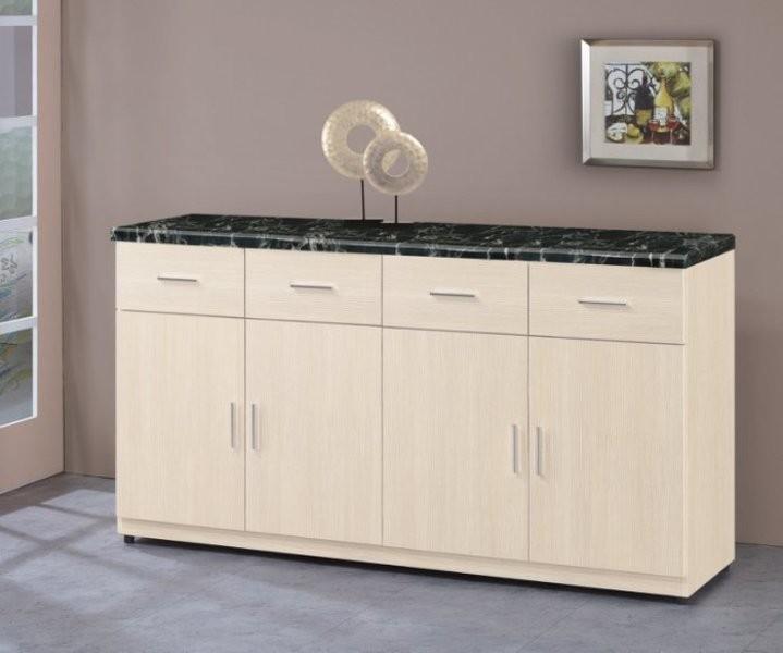 新精品ef-366-5 泰豐5.3尺石面餐櫃(下)白雪杉 (不含其他商品) 台北到高雄滿三千搭