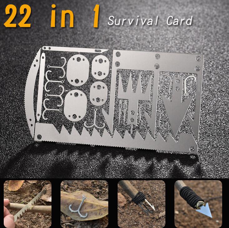 22合一 多功能魚鉤工具卡(體積小 攜帶方便)  野外求生工具漁具捕魚裝備