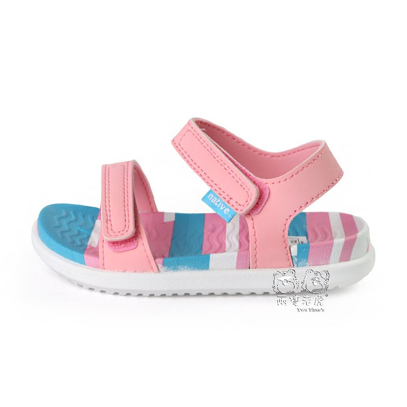 Native CHARLEY PRINT 小查理系列 粉色 涼鞋 小童鞋 NO.Y1553