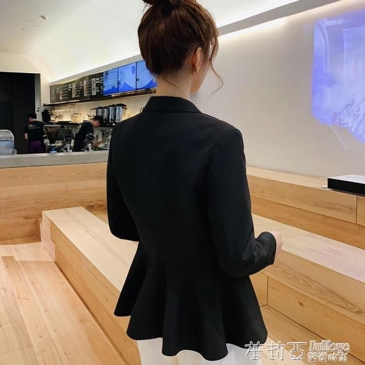 樂天優選~春秋新款韓版氣質修身小西裝外套女時尚百搭收腰顯瘦西服外套