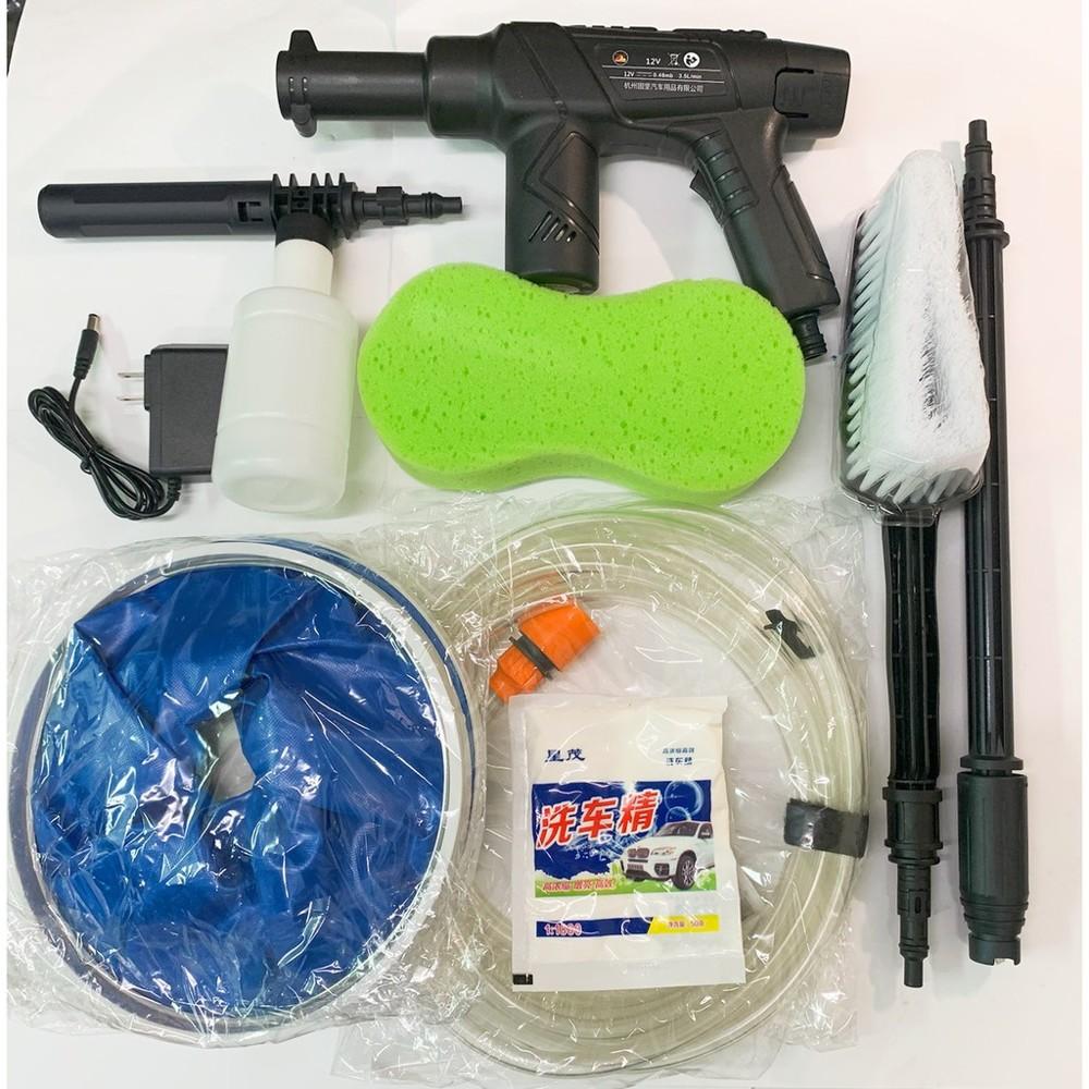 鋰電無線洗車機 12v 2.0ah/3.2ah 便攜式洗車器 鋰電池水泵 高壓無線洗車機 保固半年