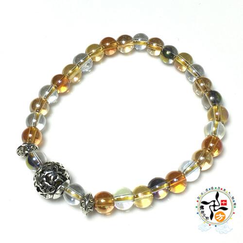六字真言+珍珠光七寶琉璃手珠6mm 十方佛教文物