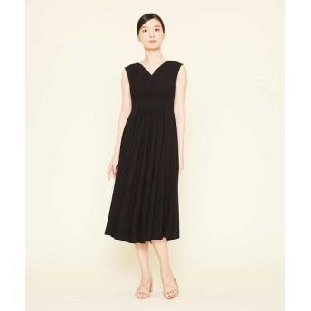 Sybilla/シビラ ジョーゼットタックドレス ブラック 40