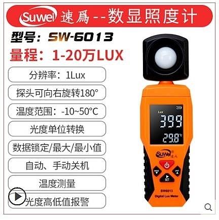 速為照度計測光儀亮度測試儀流明表數字光照度計高精度照度儀器全館全省免運