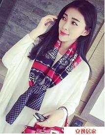 小絲巾女士春秋季百搭長條方巾韓國領巾細窄圍巾冬季紗巾領帶裝飾 安逸居家