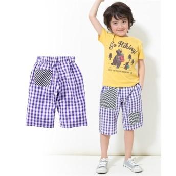 綿100%サッカー素材クレイジーパターンハーフパンツ(子供服 男の子 ジュニア服) パンツ, Kids' Pants