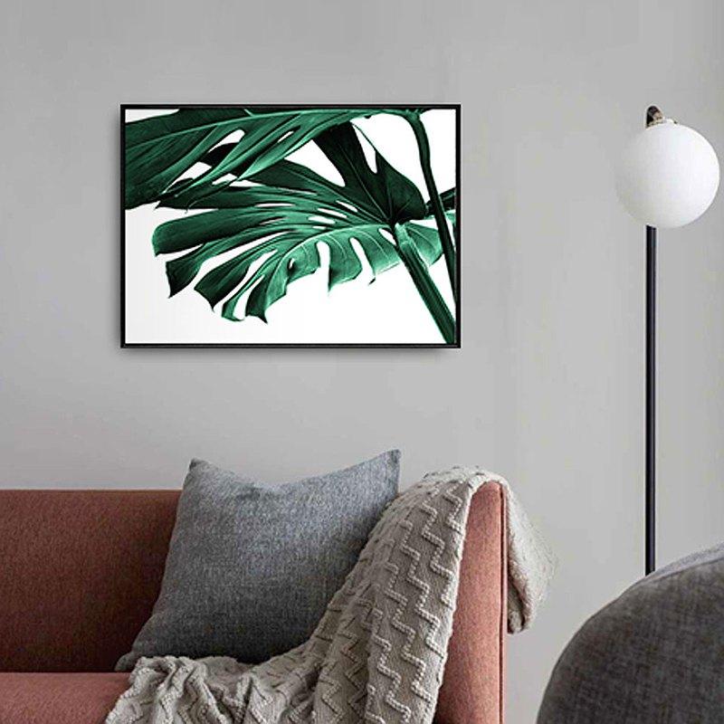 朝氣蓬勃-龜背竹I-玄關掛畫/臥房/複製畫/綠意植物/餐桌佈置