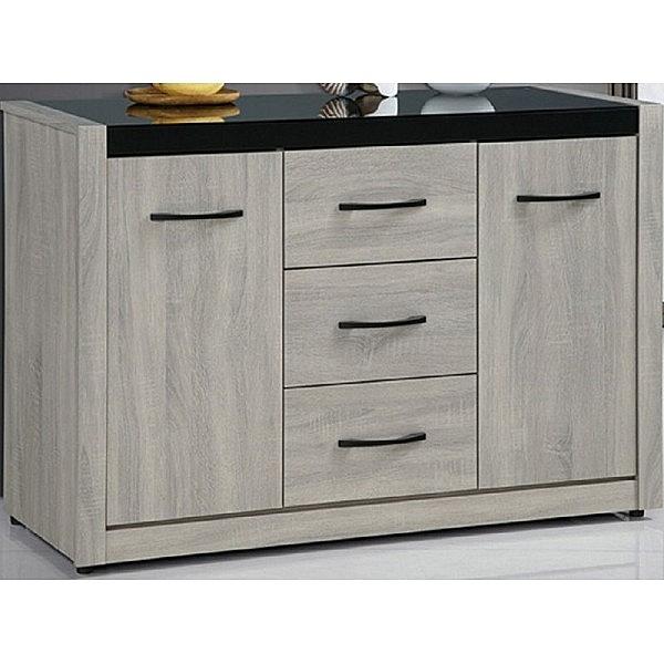 櫥櫃 餐櫃 SB-858-4 清心4尺鋼刷淺灰色碗盤櫃下座【大眾家居舘】