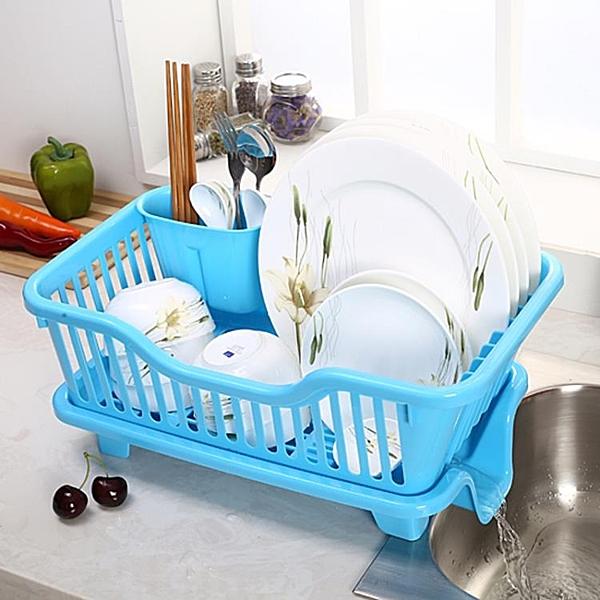 大號塑料碗柜收納箱碗架筷架瀝水籃廚房瀝水架碗碟架置物架 快意購物網