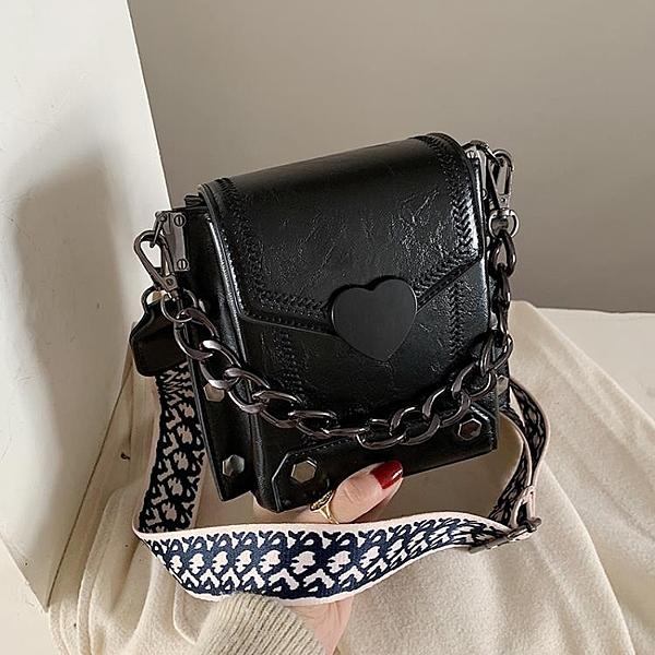 夏天上新小包包女2020流行新款韓版網紅質感單肩包時尚寬帶斜挎包 後街五號