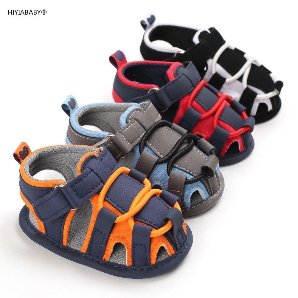 夏季0-1歲男寶寶包腳涼鞋軟底嬰兒鞋學步鞋