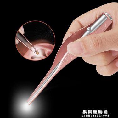 挖耳勺發光耳勺兒童掏耳朵神器軟頭寶寶耳屎鑷子工具套裝采耳帶燈
