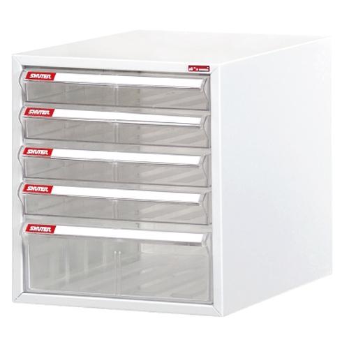 【樹德SHUTER】A4-105P W263×D343×H287mm 白櫃 / 透明抽 收納櫃/文件櫃/五層效率櫃