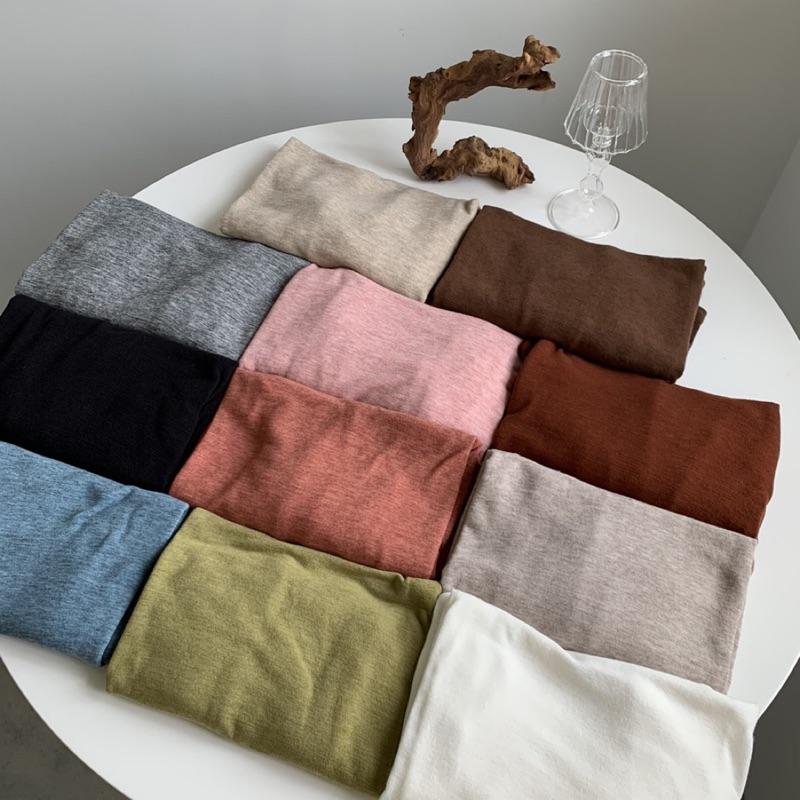 微寬鬆巧克力磚圓領柔軟混色彈力棉T 小寬鬆上衣 彈性上衣 棉質上衣 混色上衣 彈力上衣 GRASS 現貨 [A8801]