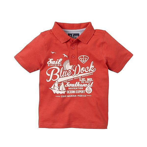 mothercare 紅色短袖POLO衫-海洋新世界(M0B3758)3~8歲
