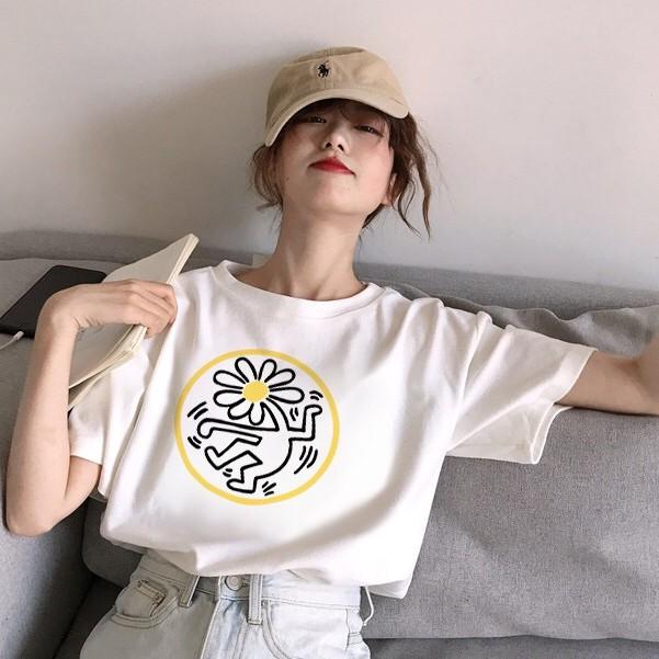 【M世代】夏季新款100%纯棉短袖T恤男女韓版寬鬆ins學生上衣(9083)
