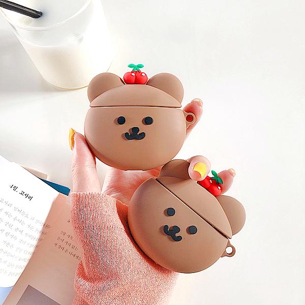 Airpods Pro 專用 1/2代 台灣發貨 [ 櫻桃小熊熊 ] 藍芽耳機保護套 蘋果無線耳機保護