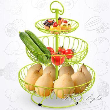 果盤果籃 多層大容量水果籃歐式金屬果盤創意果盆客廳三層水果盤現代乾果盤