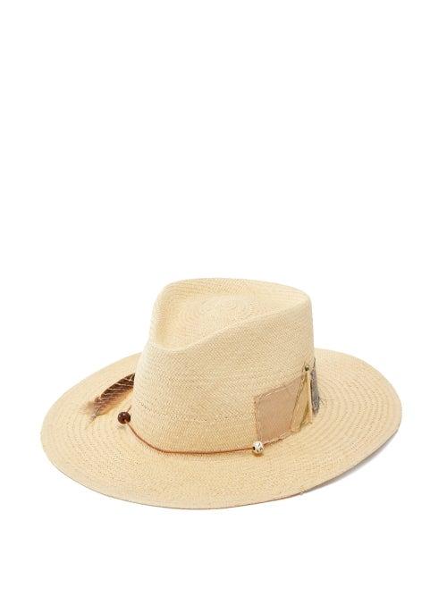 Nick Fouquet - Sand Dollar Beach Straw Fedora - Mens - Beige