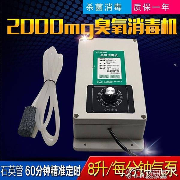 2000mg臭氧發生器 (220v 8升)加定時器 洗菜消毒機果蔬解毒機魚缸好樂匯