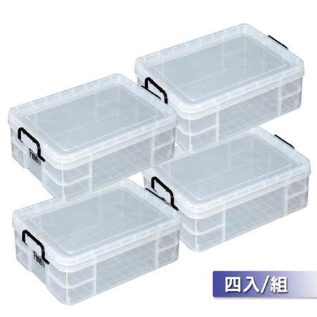 收納樂 安心收納圓角強固型025整理箱 四入組