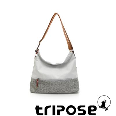 tripose 漫遊系列岩紋輕巧側肩背包 貴族灰