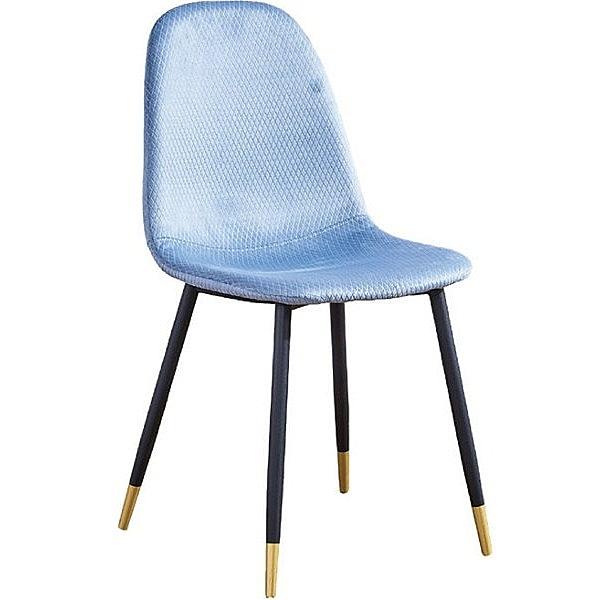 餐椅 SB-931-8 安達仕藍色鐵藝布餐椅【大眾家居舘】