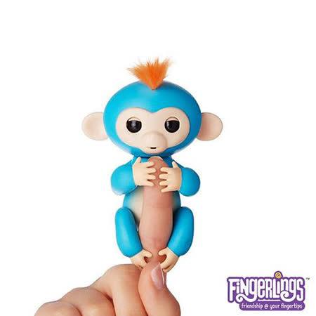 WowWee 正版互動手指猴 Fingerlings 電子智能竉物猴BORIS 藍色