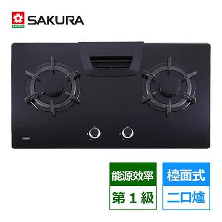 櫻花SAKURA 二口高效節能檯面爐 G2825G LPG/NG (含基本安裝)