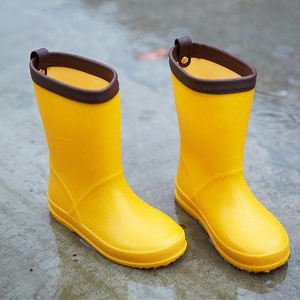 兒童雨鞋超輕款兒童雨靴環保材質防滑水鞋男女童雨鞋 印巷家居