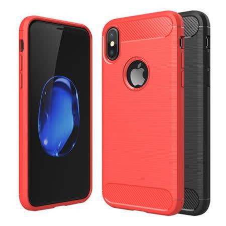 YANGYI揚邑 Apple iPhone X / XS 碳纖維拉絲紋軟殼散熱防震抗摔手機殼 Apple iPhone X / XS