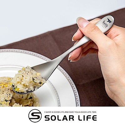 鎧斯Keith Ti5201純鈦環保攜帶式湯匙.鈦金屬無毒便攜式加厚加寬大湯勺餐圓匙餐具