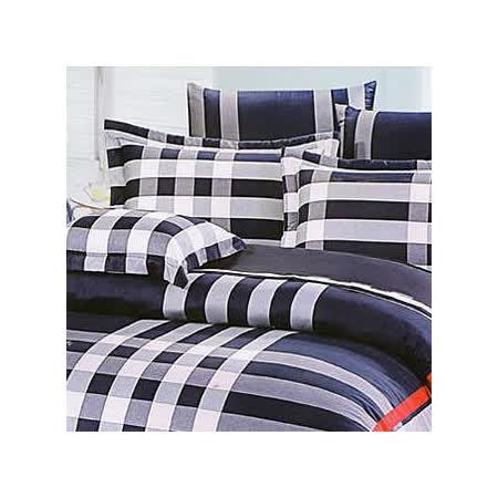 名流寢飾 100%純棉薄床包組(品味格調) 單人加大3.5*6.2尺