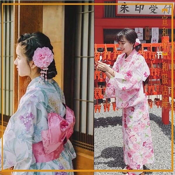 日本和服女式長款浴袍浴衣套裝cos 星際小舖