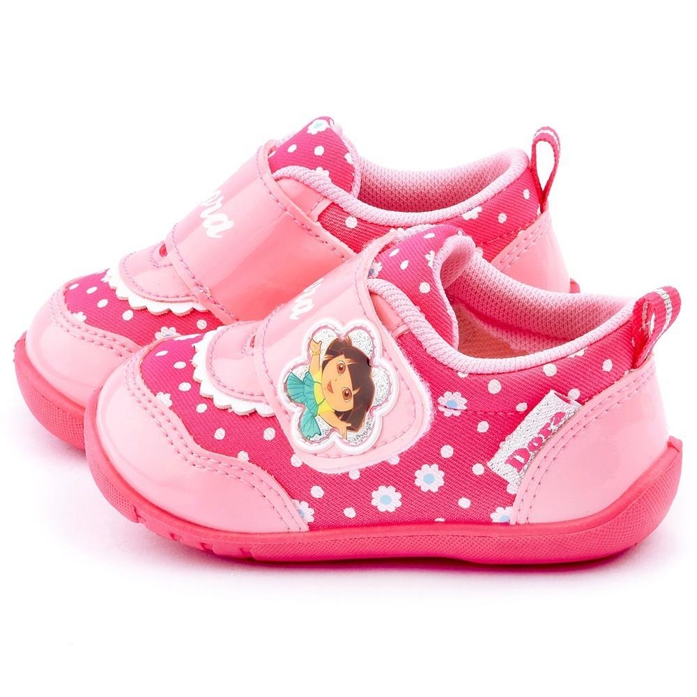 鞋子部落 朵拉可愛款小碎花學步鞋 正版授權 小童 dr87023 粉